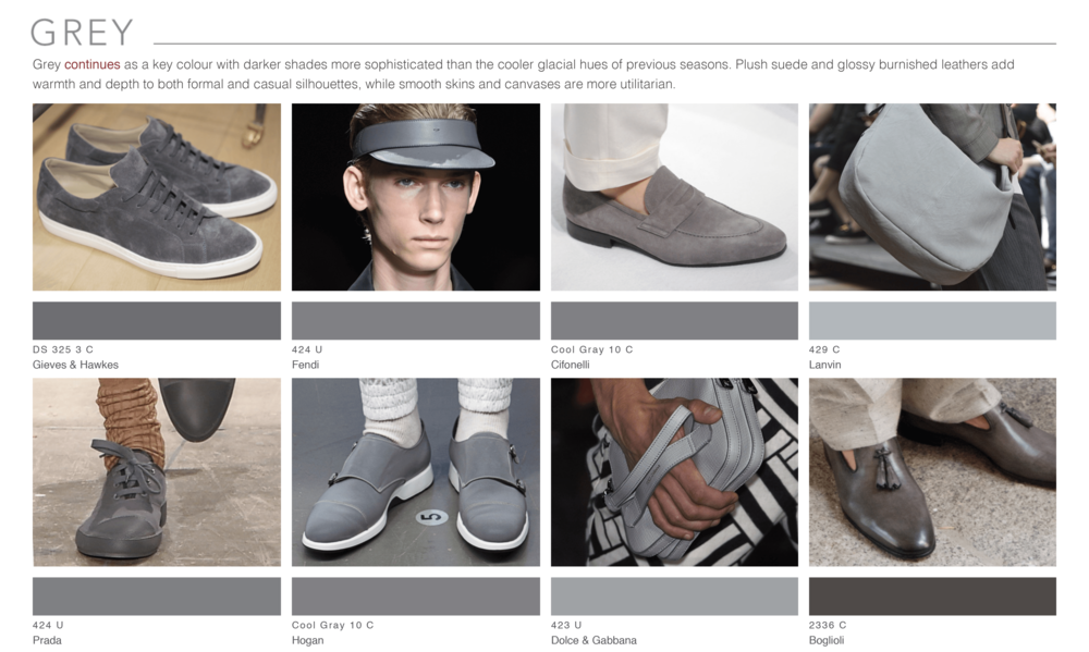 Theo Blix ®  SS16 KEY COLORS  TRENDS Footwear & Accessories Trends Grey WGSN