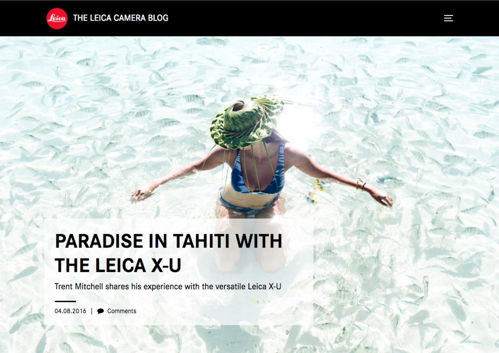 Leica International - Camera collab