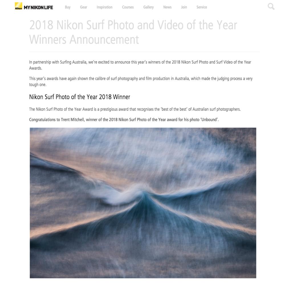 Nikon Australia - Surf Photo of the Year - Winner
