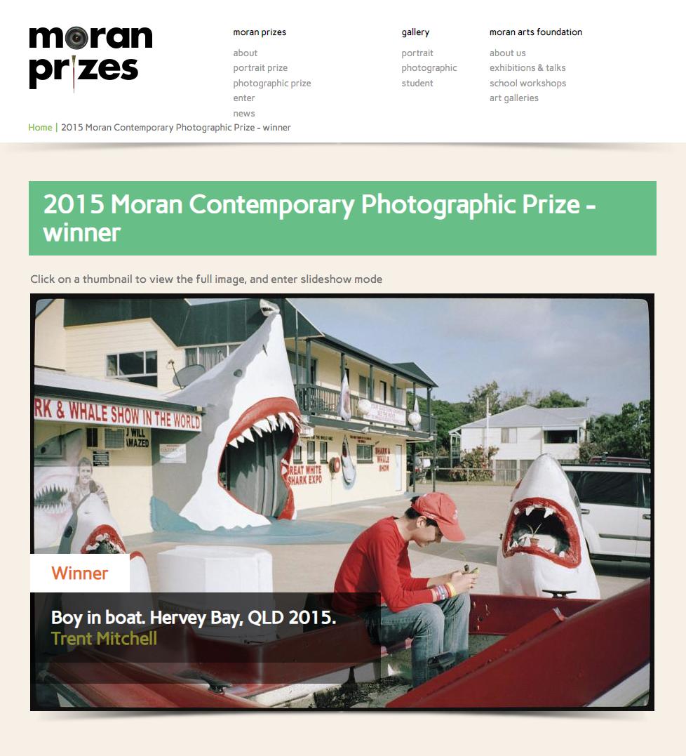 Moran Prizes - Moran Contemporary Photographic Prize - Winner