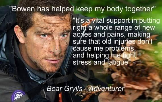 Bear Grylls Bowen Therapy