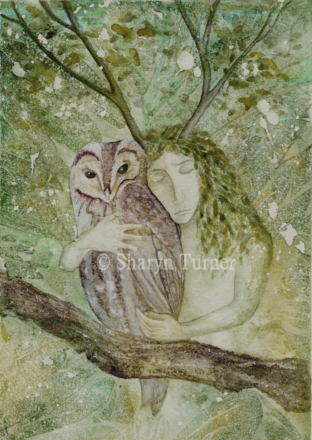 Wrapped in the Greenwood - (Watercolour) © Sharyn Turner 2015