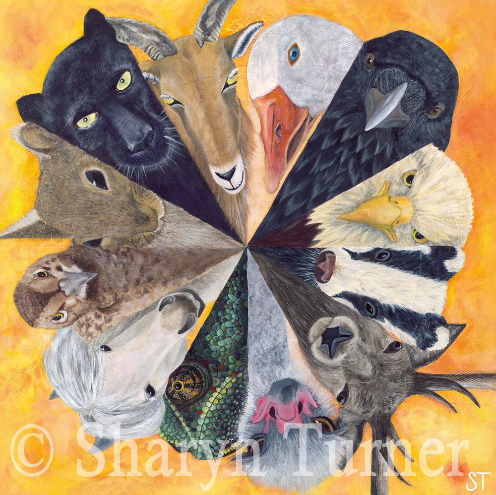 Circle of Friends (Acrylic on canvas) © Sharyn Turner 2016