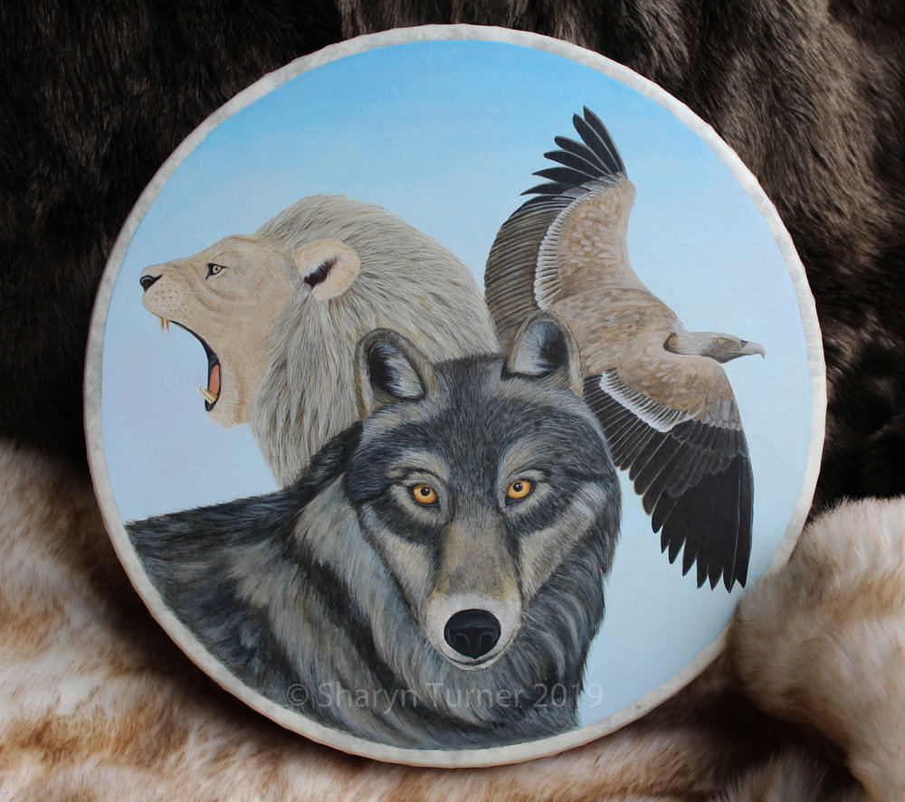 Wolf, Lion and Vulture Drum