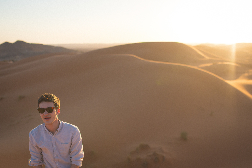 Songwriter Jack Shepherd in Erg Chebbi