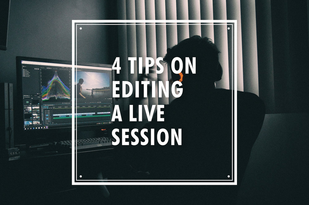 how to edit live music video