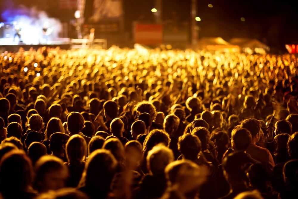 Konzertbesucher beim Festival