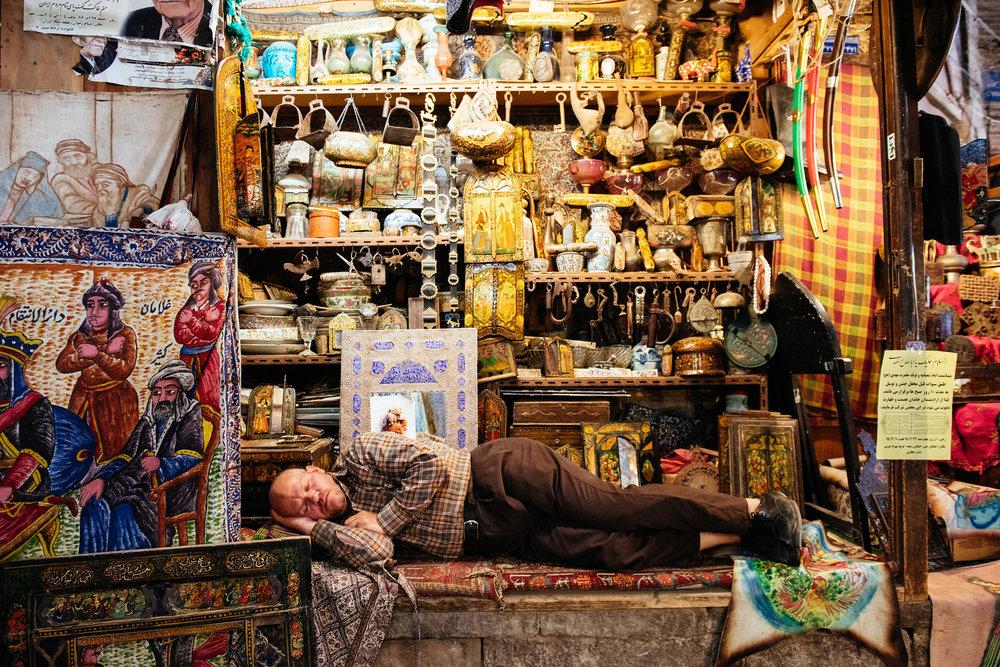 Mittagspause auf dem Bazar Isfahan