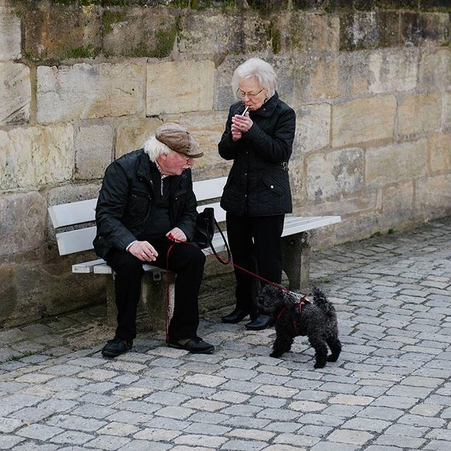#Repost @cndwlz ・・・ Back in black. #couple #street #dailylife #photojournalism #nikonphotography #black #blackpeople #dog #oldpeople #breaktime #sitting #bench #streetphoto #streetphotography #instagram #instagramer #instagood