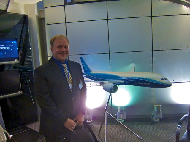 Me in 2012, grinning like a goof in Boeing's Beijing headquarters while learning all about the Dreamliner.