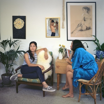 The In-Between - Catalogue essay for The In-Between by Madeline BishopImage: Madeline Bishop, Deb, Yuyi and Georgia, 2016