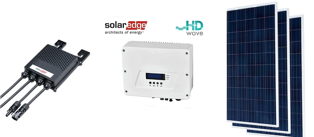 Solaredge Optimiser                                                                    Solaredge Inverter                                        Superior Photovoltaic Module