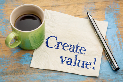 create value reminder on napkin create value reminder on napkin