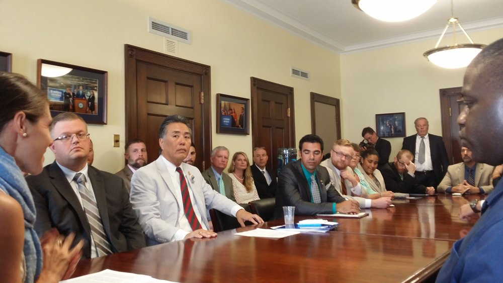 Rep. mark takano mEETS with VES and student veterans from community colleges nationwide, June 2016