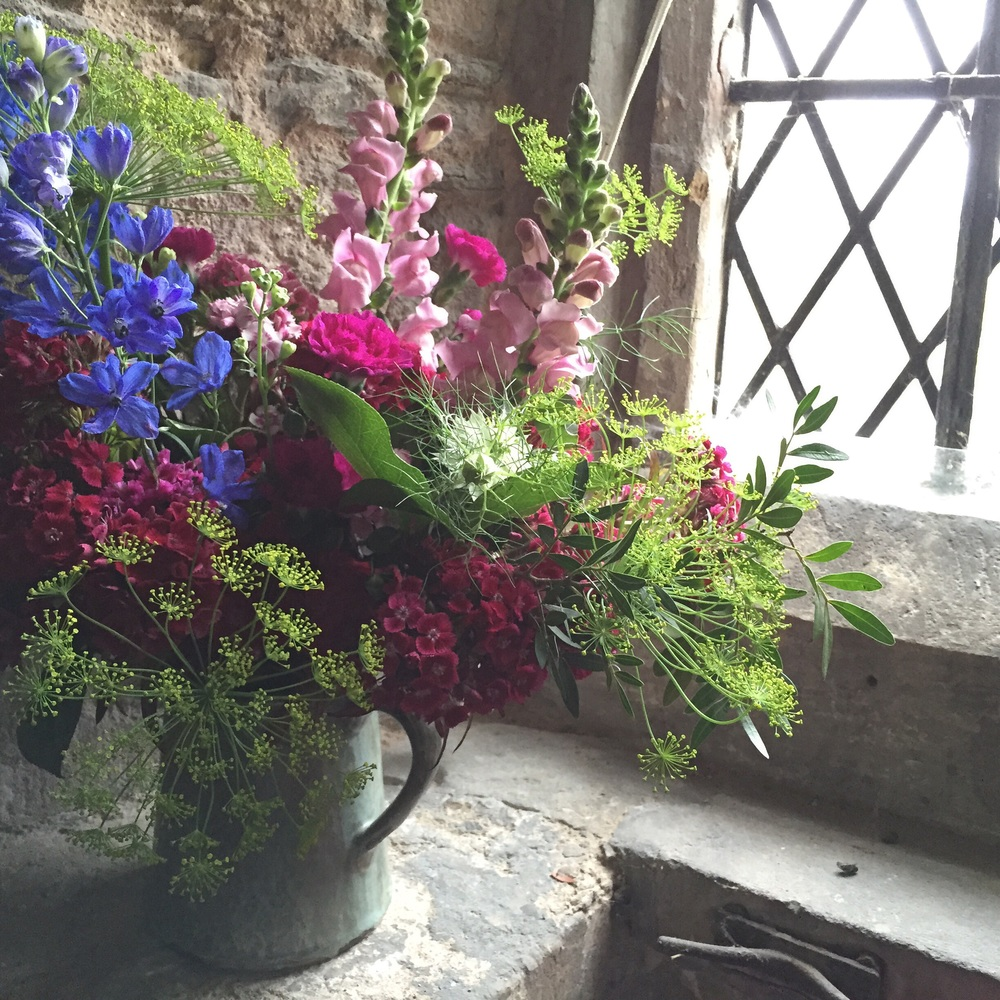 A burst of colour for the church window.