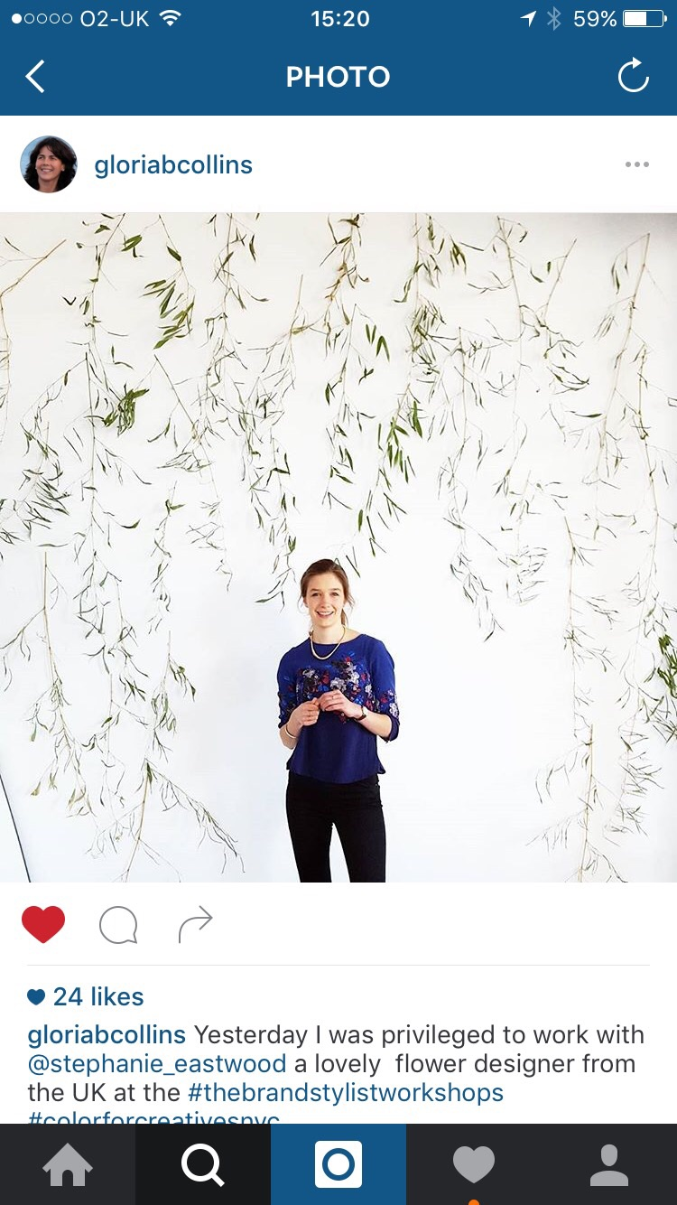 I loved helping Gloria create this gorgeous foliage wall. All made from bamboo cut fresh from Gloria's garden!