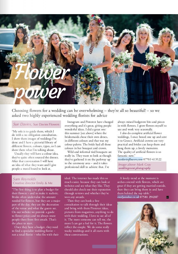 Suedaviesflowers interview in Wealden Times