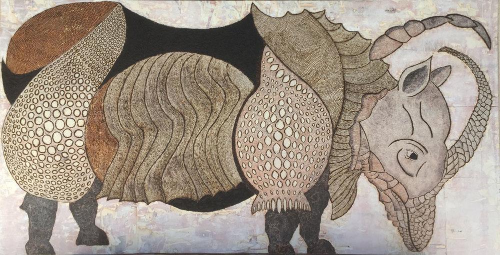 Copy of Rhino d'après Durer // Format 200 x 100 cm