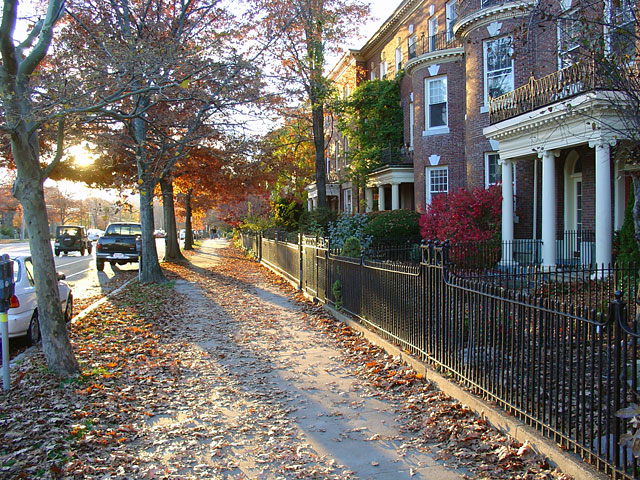 The beautiful Brookline in autumn.