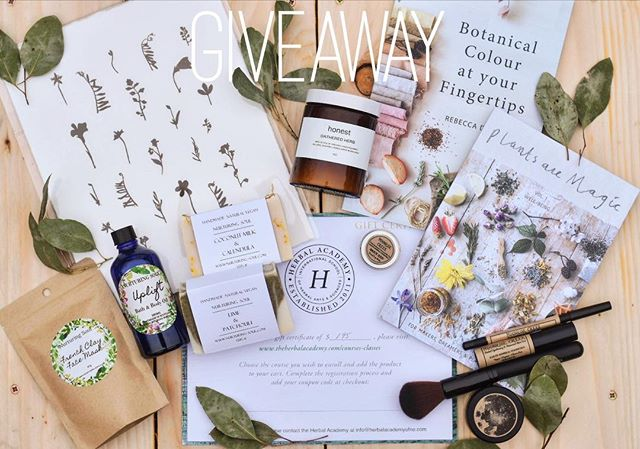 🍃G I V E A W A Y 🍃 to celebrate the return of spring, I've teamed up with some nature-loving brands for an amazing botanical inspired giveaway! . What the winner will receive 👇 . 1. A spot on the Introduction to Herbalism online course by @herbalacademy . 2. A limited edition meadow inspired lino print by @mrstudiolondon 3. Gathered soy candle by @honestskincare . 4. Vol 1. Of Plants Are Magic magazine by @plants_are_magic . 5. A handful of earthwise mineral makeup from @moonrisecreek . 6. Botanical Colour At Your Fingertips book by me! @rebeccadesnos . 7. A selection of natural plant based skin care products from @nurturing_soul . How to enter: . Like this post . Follow each of the giveaway hosts @rebeccadesnos @moonrisecreek @honestskincare @plants_are_magic @herbalacademy @mrstudiolondon @nurturing_soul . Tag a friend in the comments. (Each friend you tag will count as an entry but please use separate comments.) . Giveaway will end on March 26th. . Giveaway is open worldwide. It is not sponsored by Instagram in anyway. Participants must be over 18. . Good luck! ✨