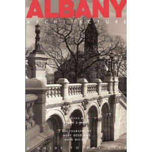 Albany Architecture - $27.95 +tax   This richly illustrated touring companion beckons the familiar and the newly curious to experience one of America's oldest cities, where architects of national renown- Russell Sturgis, H. H. Richardson, Leopold Eidlitz, Stanford White, and Wallace K. Harrison among others- created designs not only for the monumental public buildings that define the city but also for its commercial center and its distinctive residential enclaves. Let this guide take you for walks and rides through the city's history, or listen to its stories from the comfort of an armchair on a quiet evening.