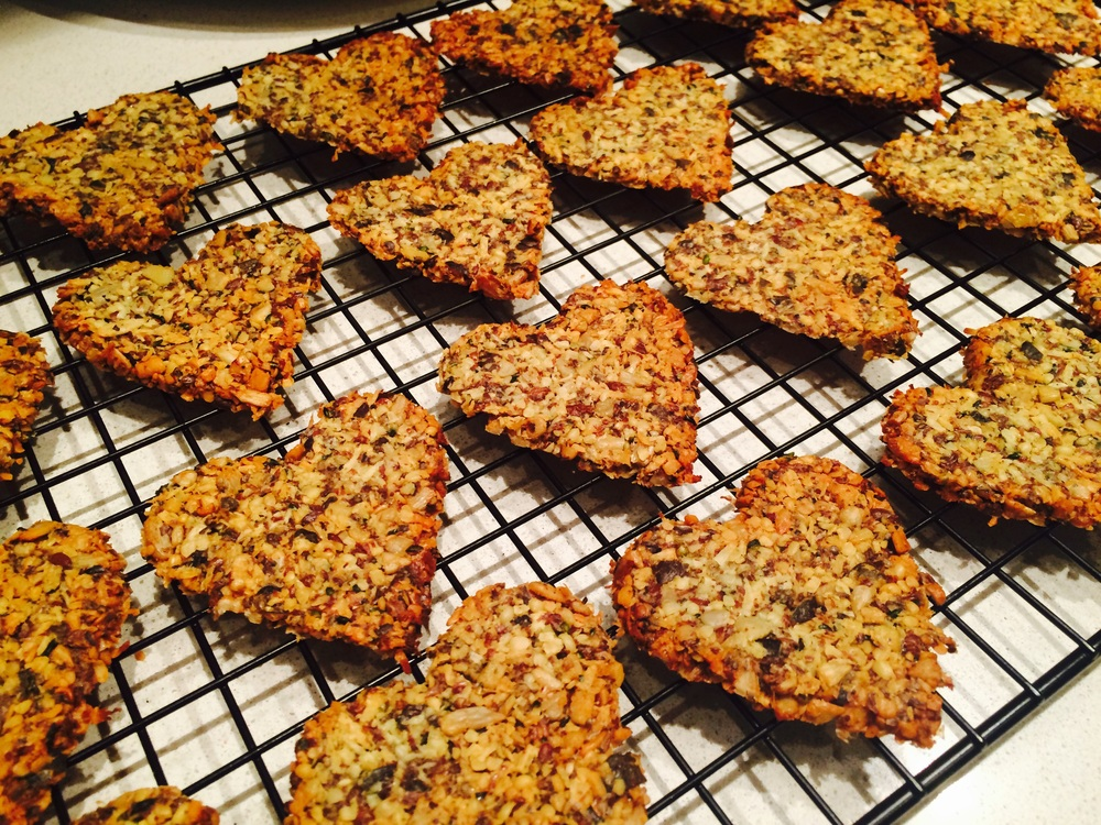 Seed and Coconut Crackers