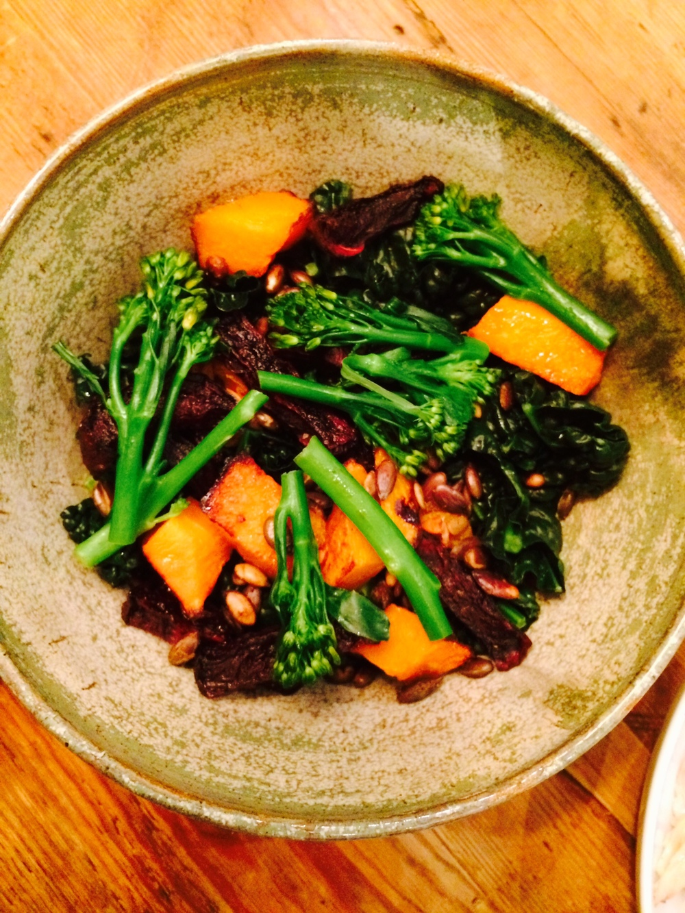 Kale, Squash and Beetroot Salad