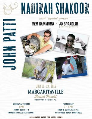 JD Spradlin at Margaritaville Beach Resort - Hollywood Beach, FL July 13, 2016