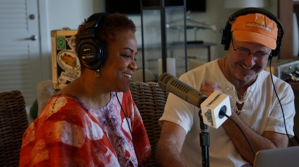 Coral Reefer Nadirah Shakoor with JD Spradlin on Radio Margaritaville at the Margaritaville Hollywood Beach Resort