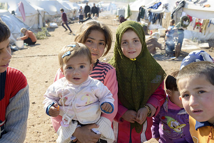 Syrian refugees.  (Photo by Getty images)