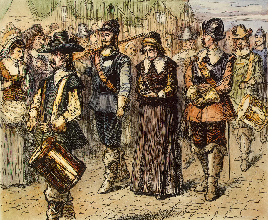 Real Persecution: Mary Dyer, a Quaker, was executed in Boston in 1660 because of her religious beliefs. Image by Wikipedia Commons.