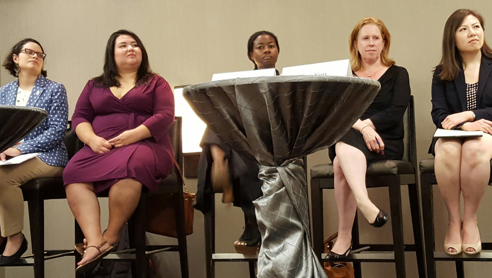 Legislative Assistant Director Dena Sher (second left) at the Transgender Law Institute panel. Photo courtesy of @transcendlegal