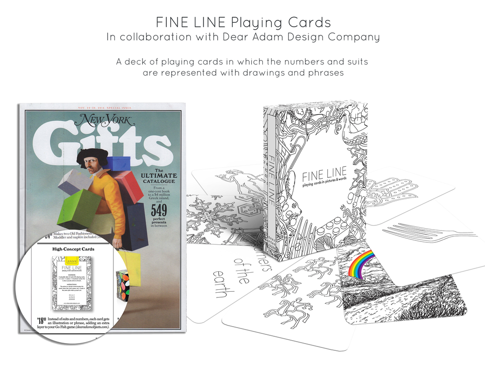Fine Line Playing Cards, In collaboration with  Dear Adam  Design Company.