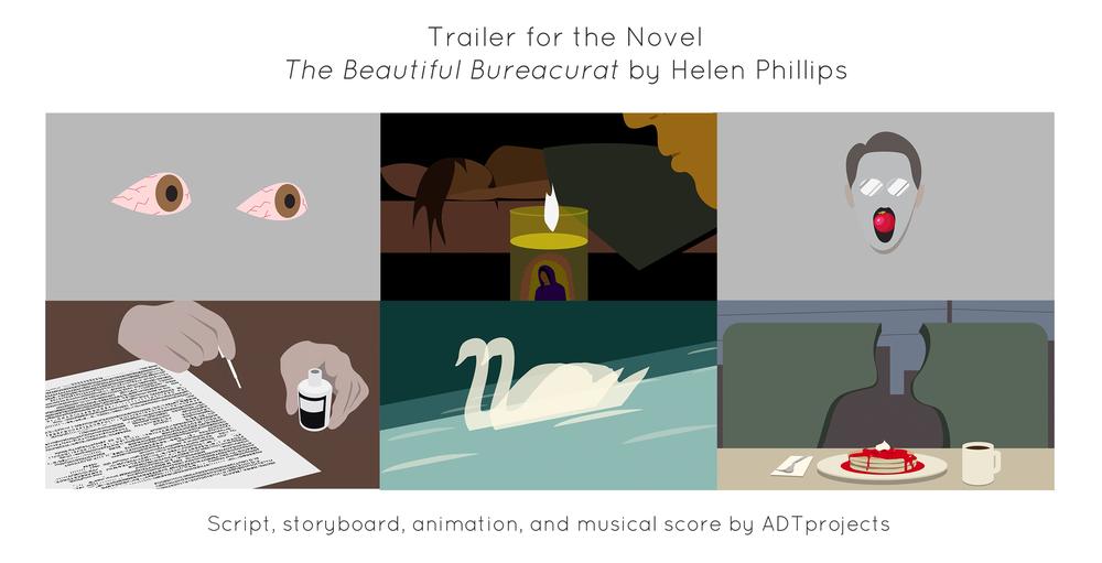 "Trailer for the novel "" The Beautiful Bureaucrat ,"" by  Helen Phillips ."