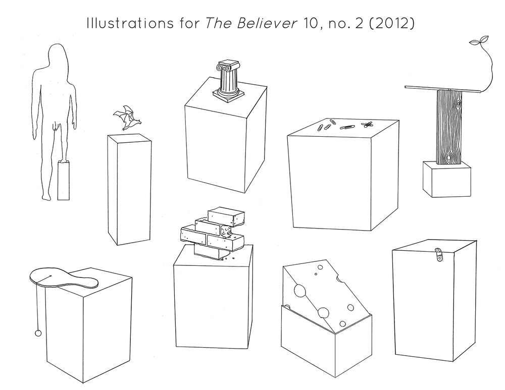 """Illustrations for the Magazine """" The Believer ,"""" Issue 10, no. 2 (2012)"""