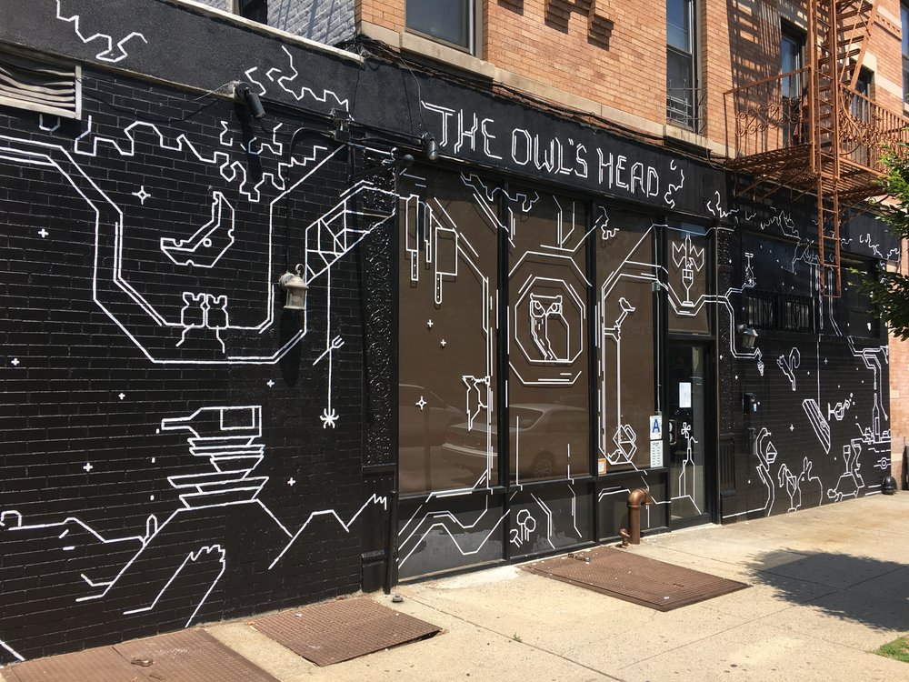 THE OWL'S HEAD - Facade design and drawings for wine bar in Brooklyn, NY