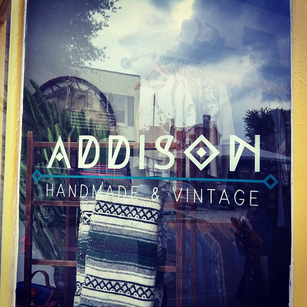 Cute sign for cutest new shop in town! @addison_handmade_vintage #campfireandco by laurenelaine http://bit.ly/19WureG