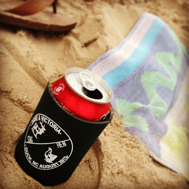 Beach! Custom koozies for all major life events from now on. #campfireandco by christinamh  http://bit.ly/14TzAz5