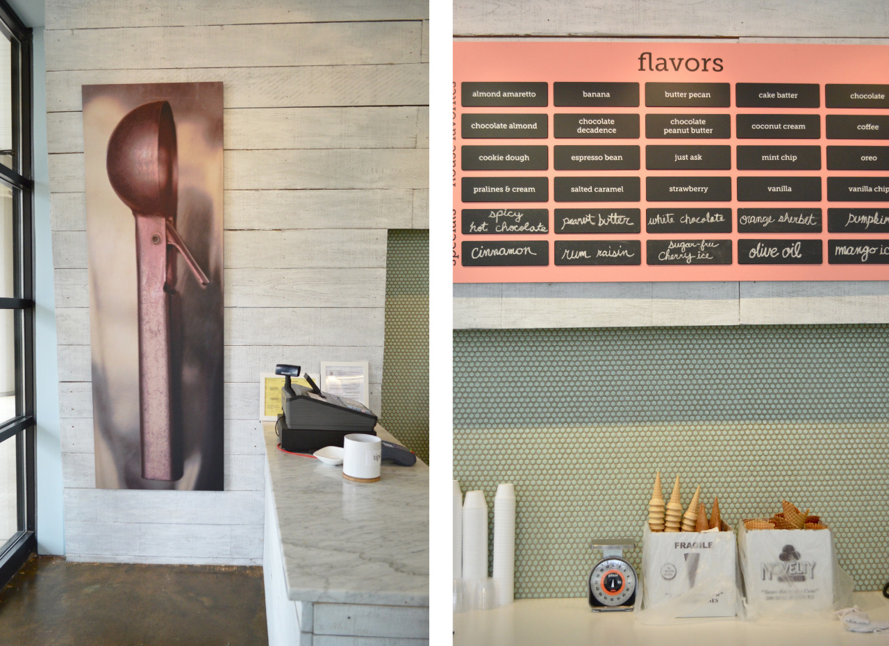 Young House Love did a great post on a super fun project we completed last year. Gelati Celesti is a local artisan ice cream shop. Best Ice cream in town! Check it out  here .