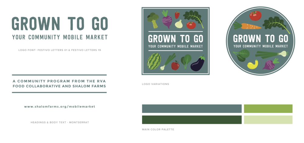 Grown to Go branding and graphic elements