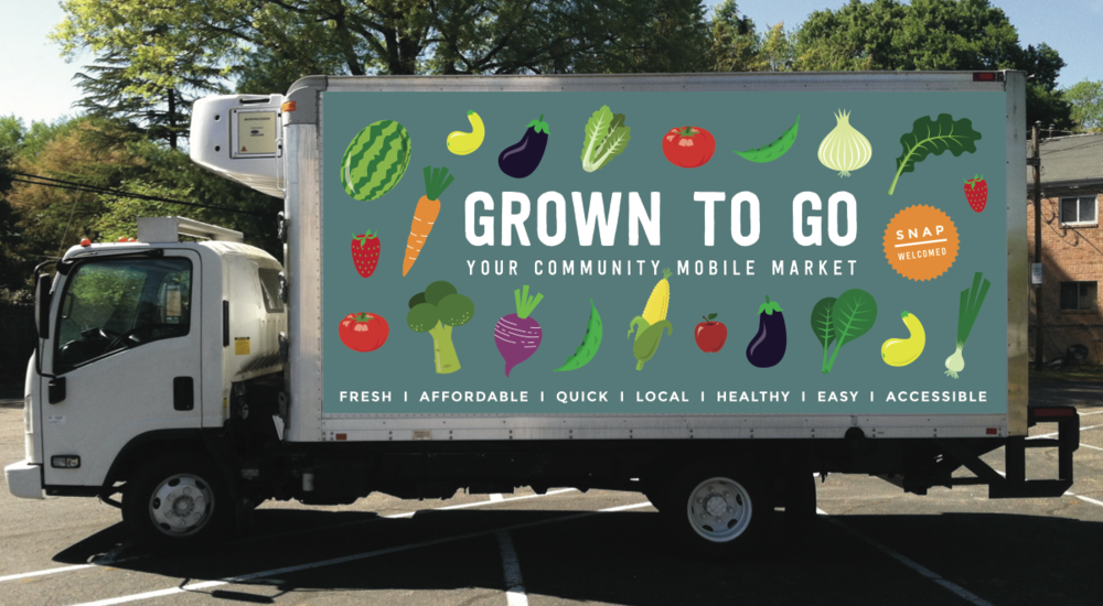 Grown to Go truck wrap mock up
