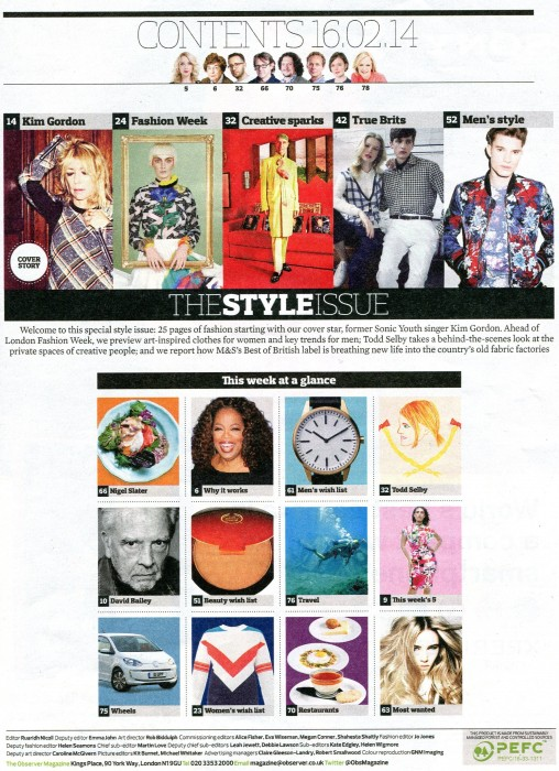 OBSERVER MAGAZINE   FEB 2014