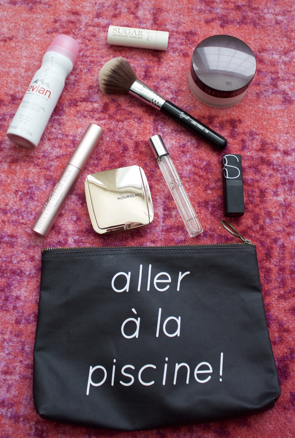 perfect airplane makeup bag