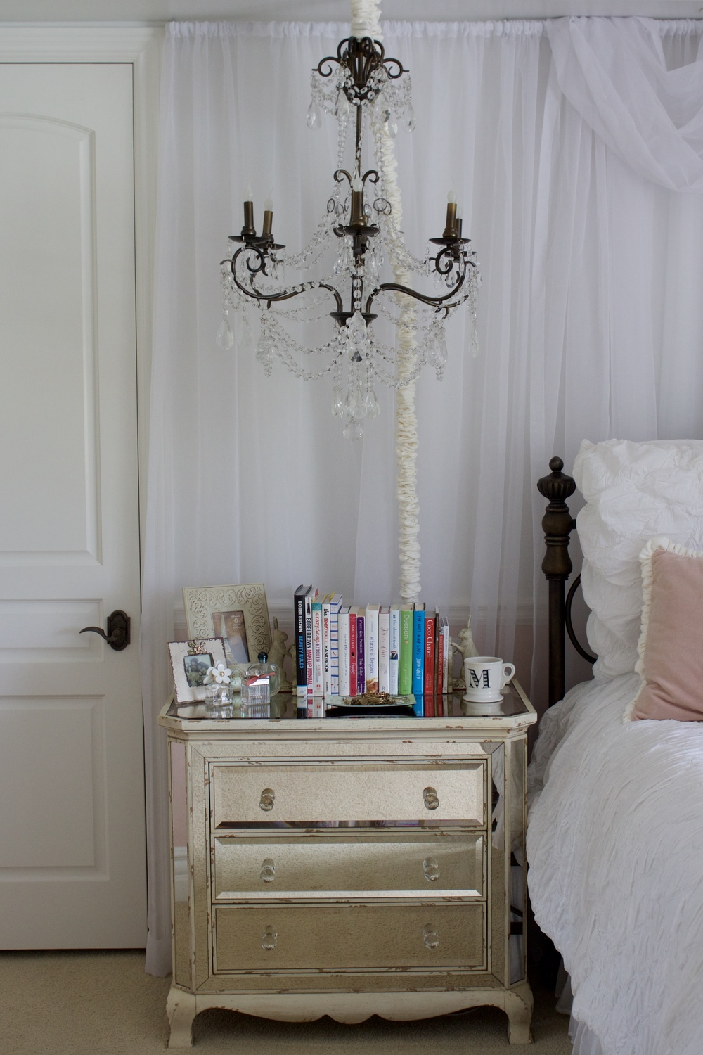 Samantha McNeil Night Stand with a Chandelier