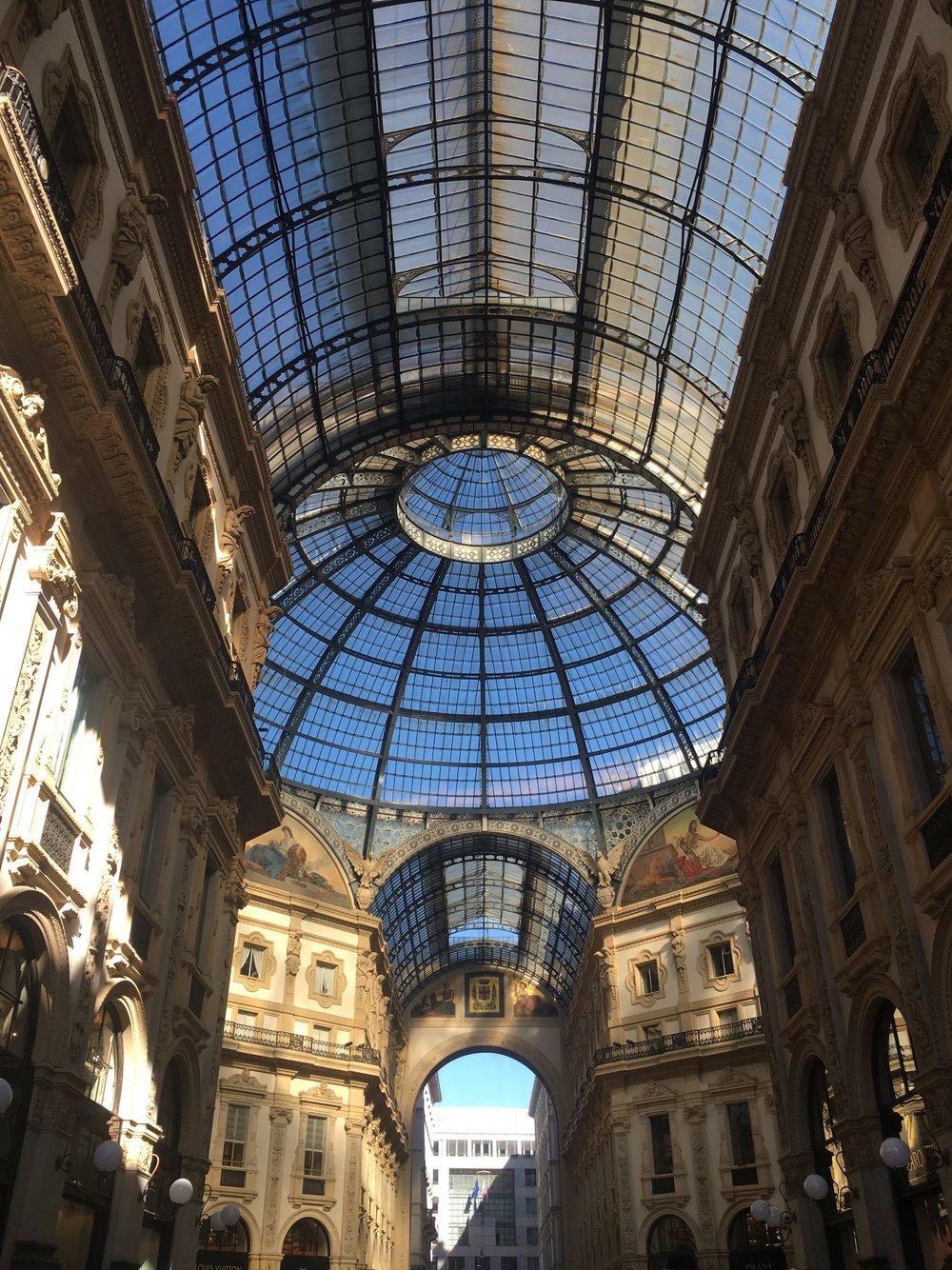 Samantha McNeil Blog Milan Galleria