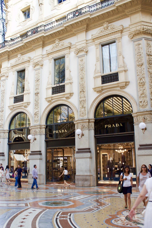 Samantha McNeil Blog Galleria Vittorio Emanuele II Prada