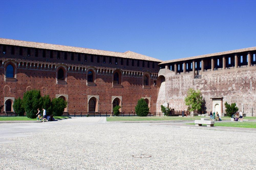 Samantha McNeil Blog Sforza Castle Courtyard