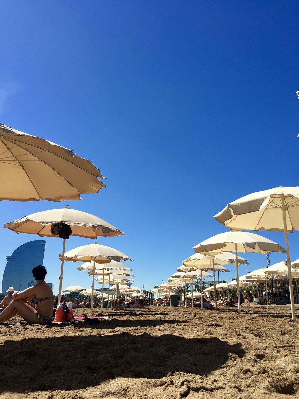 Samantha McNeil Blog Barcelona Beach