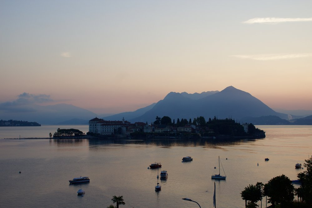 Sunset at Lake Maggiore, Stresa, Italy, Samantha McNeil Blog