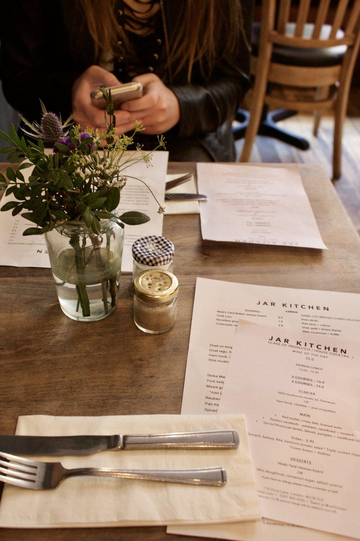 Jar Kitchen // London England // Samantha McNeil Blog